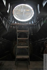 The Nautilus interior looking up through the hatch